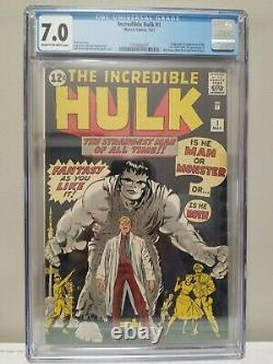 Incredible Hulk #1 CGC 7.0