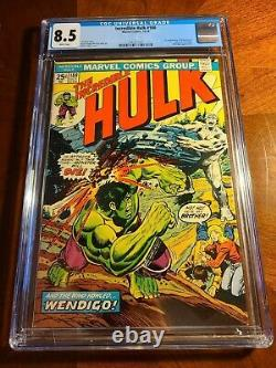 Incredible Hulk #180 CGC 8.5 First (Cameo) appearance of Wolverine MVS intact