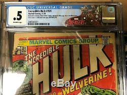Incredible Hulk #181 Blue Label 0.5 No MVS Avengers Label