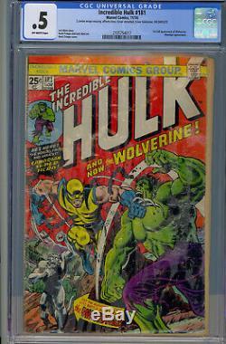 Incredible Hulk #181 CGC 0.5 OW-1st-Full-Wolverine-Wendigo-Marvel-1974