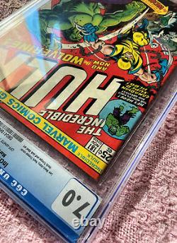 Incredible Hulk 181 CGC 7.0 1ST APP WOLVERINE 1974 Comic Book PRESS CANDIDATE