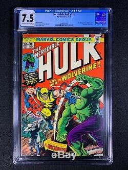 Incredible Hulk #181 CGC 7.5 (1974) 1st full app of Wolverine