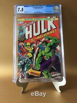 Incredible Hulk #181 CGC 7.5 KEY 1st Full App Wolverine Bronze Age Holy Grail