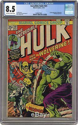 Incredible Hulk #181 CGC 8.5 1974 1209077001 1st app. Wolverine (full non-cameo)