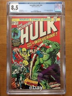 Incredible Hulk #181 CGC 8.5 1st Full App Wolverine Marvel Comics VF+