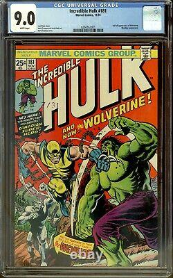 Incredible Hulk 181 CGC 9.0 1st Wolverine