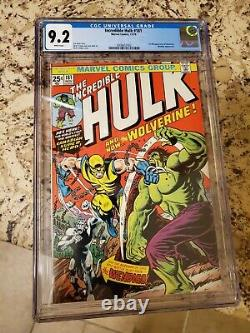 Incredible Hulk #181 CGC 9.2 White Pages 1st Wolverine DISNEY MARVEL MERGER