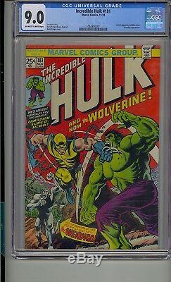 Incredible Hulk #181 Cgc 9.0 1st App Wolverine