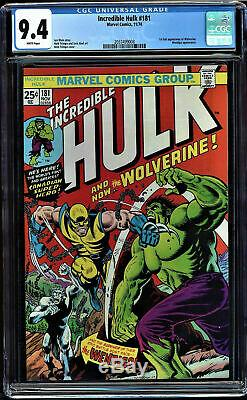 Incredible Hulk #181 Cgc 9.4 White Pages 1st Full Wolverine App Cgc #2037499008