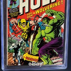 Incredible Hulk #181 Cgc Ss 5.5 Signed By Stan Lee 1st Full App Wolverine