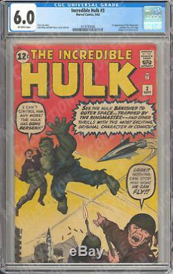 Incredible Hulk (1962) #1-6 CGC 4.5 5.5 6.0 Nice Run! Michalke Collection