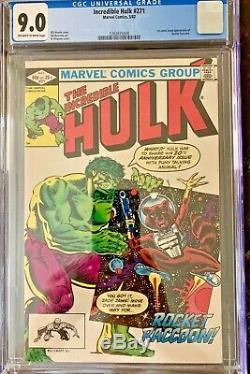 Incredible Hulk #271 (1982) Cgc 9.0 1st Rocket Raccoon In Marvel Universe