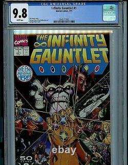 Infinity Gauntlet Issue #1 CGC 9.8 NM/M Avengers 1991 Marvel Comic Amricons K20