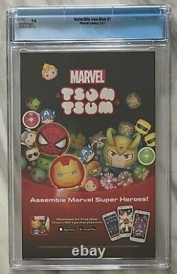 Invincible Iron Man #1 CGC 9.8 1st Ironheart Riri Williams Marvel 2016 NR