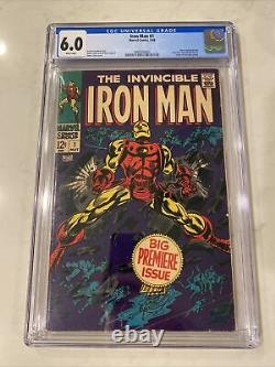 Iron Man #1 CGC 6.0 White Pages 1968