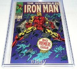 Iron Man #1 CGC Universal Grade Comic 9.2 Origin Retold Tony Stark Premiere