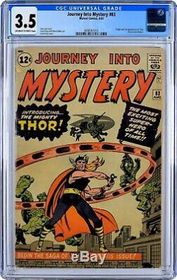 JOURNEY INTO MYSTERY 83 CGC 3.5 OW-W 1ST Appearance Thor, Avengers