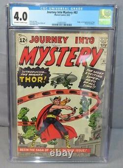 JOURNEY INTO MYSTERY #83 (Thor 1st app & Origin) CGC 4.0 VG Marvel Comics 1962