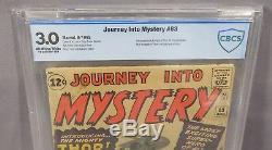 JOURNEY INTO MYSTERY #83 (Thor 1st app & origin) CBCS 3.0 1962 Marvel Comics cgc