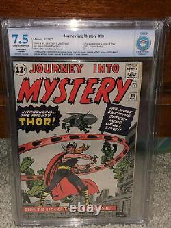 Journey Into Mystery #83 CBCS 7.5 (R) 1st Thor! Avengers Free CGC sized mylar cm