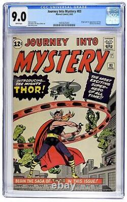 Journey into Mystery #83 CGC 9.0 Unrestored Marvel 1st Thor White Pages 9.2 9.4