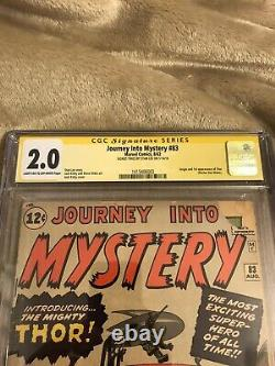 Journey into mystery 83 (1962, Marvel) CGC 2.0 SS Stan Lee 1st App. Of Thor