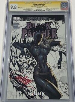 Marvel Black Panther #1 Dark Reign Shuri Signed Stan Lee & Campbell CGC 9.8 SS