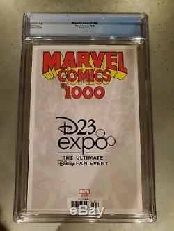 Marvel Comics #1000 D23 Expo Variant CGC 9.8 1st App Mickey Mouse in Marvel