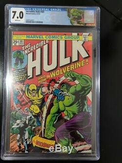 Marvel Comics The Incredible Hulk #181 1st Wolverine App. CGC 7.0 White Pages