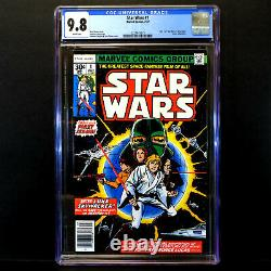 Marvel Star Wars Comic #1 (1977) Original First Issue CGC 9.8 White Pages