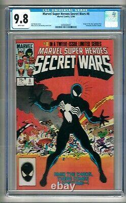 Marvel Super Heroes Secret Wars #8 (1984) CGC 9.8 White Pages Zeck Venom