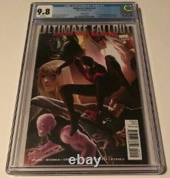 Marvel ULTIMATE FALLOUT #4 CGC 9.8 125 VARIANT FIRST APPEARANCE MILES MORALES