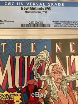 New Mutants #98 CGC 9.8 WHITE 1st Appearance of Deadpool, Gideon, & Copycat KEY