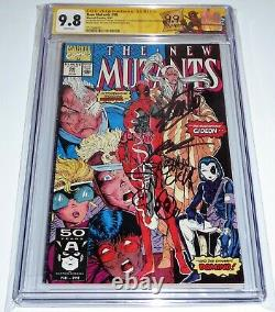 New Mutants #98 CGC SS 9.8 Double Cover 1st DEADPOOL 3x Signed STAN LEE LIEFELD