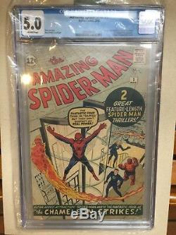 Old 1963 Amazing Spider-Man #1 Graded Spiderman Comic Book Estate Find