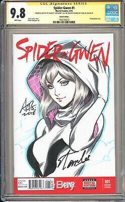 Original Art Stanley Artgerm Lau Spider-gwen Sketch Ss Cgc 9.8 Stan Lee