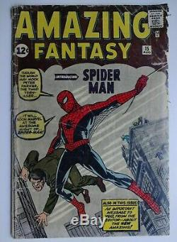 SALE Today Amazing Fantasy #15 SS Stan Lee GD- CGC 1.8 Before slabbing pictures