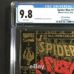 SPIDER-MAN #1 GOLD (1990) CGC 9.8 ULTRA RARE UPC/NEWSSTAND! Todd McFarlane