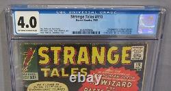 STRANGE TALES #110 (Doctor Strange 1st app.) CGC 4.0 VG Marvel Comics 1963 Dr