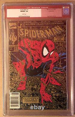Spider-Man #1 1990 Gold UPC Walmart CGC 9.8 Perfect for SS McFarlane Only 134