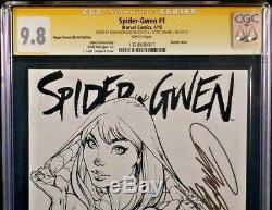 Spider-gwen #1 Cgc Ss 9.8 Campbell Sketch Variant Man Venom Ghost Marvel Comic