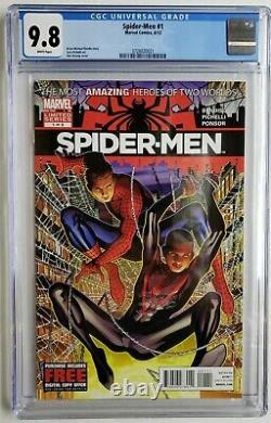 Spider-men #1 Cgc 9.8 1st Team Up Miles Morales Peter Parker Spider-verse Gwen
