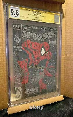 Stan Lee Signed Spiderman 1 CGC 9.8 SS Stan Lee & Todd McFarlane 2x Signed RARE