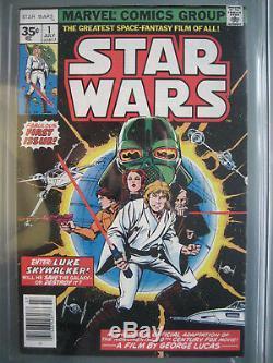 Star Wars #1 35 Cent Price Variant CGC 9.0 WP 1977 1st app Star Wars RARE
