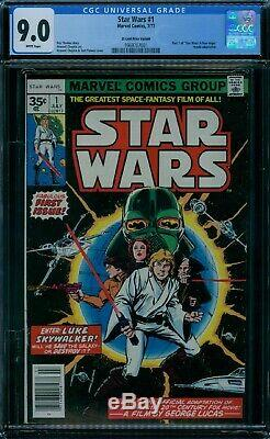 Star Wars 1 CGC 9.0 White Pages 35 Cent Variant
