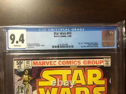 Starwars #42 CGC 9.4 White Pages Newsstand Beautiful Copy Mandalorian Key