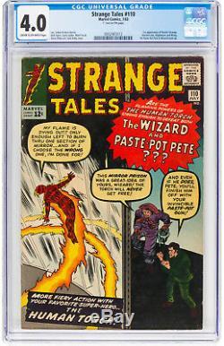 Strange Tales #110 CGC 4.0 1963 1st Doctor Strange! Key Silver Age! H12 212 1 cm