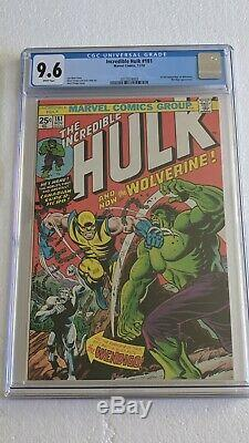 Stunning Incredible Hulk #181! CGC 9.6! Awesome investment book! Starts @. 99¢