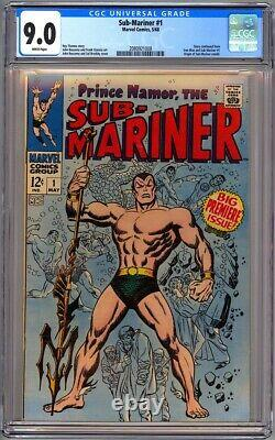 Sub-mariner #1 Cgc 9.0 White Origin Retold 1968