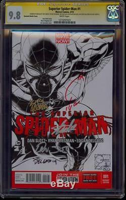 Superior Spiderman 1 Sketch Variant Cgc 9.8 5x Ss Stan Lee Quesada Slott Stegman